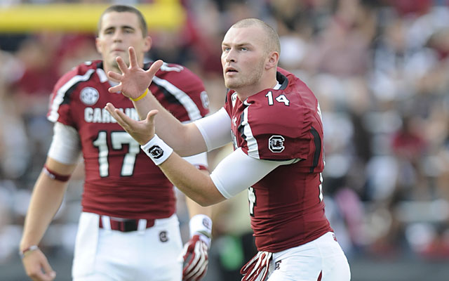 Dylan Thompson (17) is ready to step in for Connor Shaw whenever needed. (Getty Images)