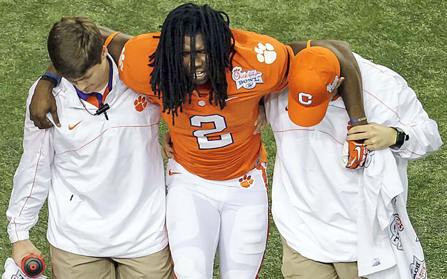 Sammy Watkins' 2012 season ended with an injury early in Clemson's bowl victory over LSU. (USATSI)