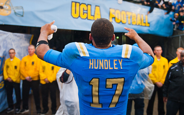 Brett Hundley's first season as UCLA quarterback ended on a down note, but better days will follow. (Getty Images)
