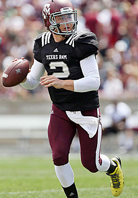 Johnny Manziel may check in at around 6 feet tall, but his huge hands are a huge plus. (USATSI)