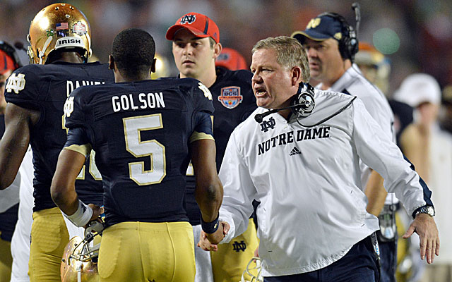 It's been a trying few months for Notre Dame coach Brian Kelly, who now must find a QB. (USATSI)