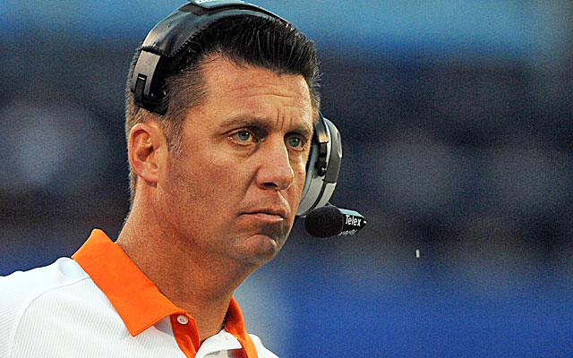 Mike Gundy says he wasn't worried about perception with his new hire.  (USATSI)