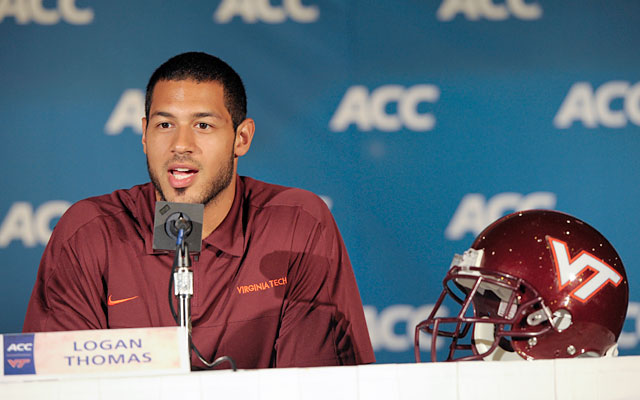 Virgina Tech QB Logan Thomas will get all he can handle in Week 1 against Alabama. (USATSI)