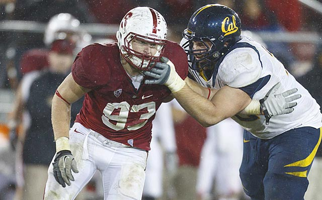 Capable of playing in a 4-3 or 3-4 defense, Trent Murphy has a shot to get drafted in Round 1 next May.