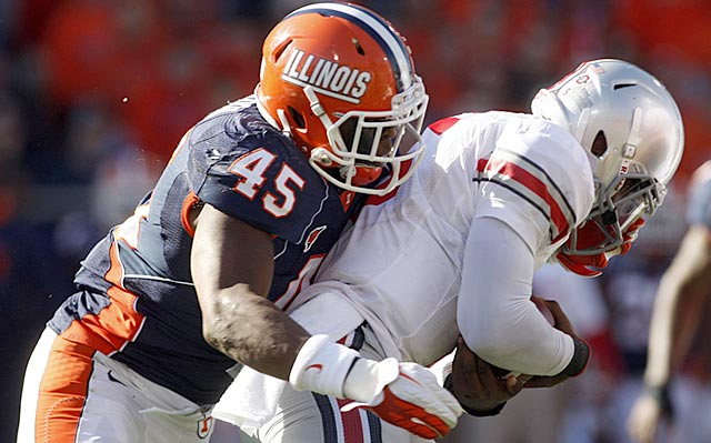 Jonathan Brown records a sack in 2011, when he played a full season and registered 19.5 tackles for loss.