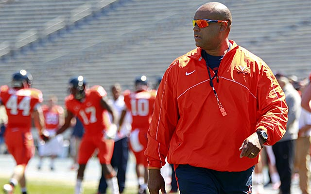 Virginia's Mike London joins Iowa's Kirk Ferentz and Lane Kiffin at USC on the coaching hot seat. (USATSI)