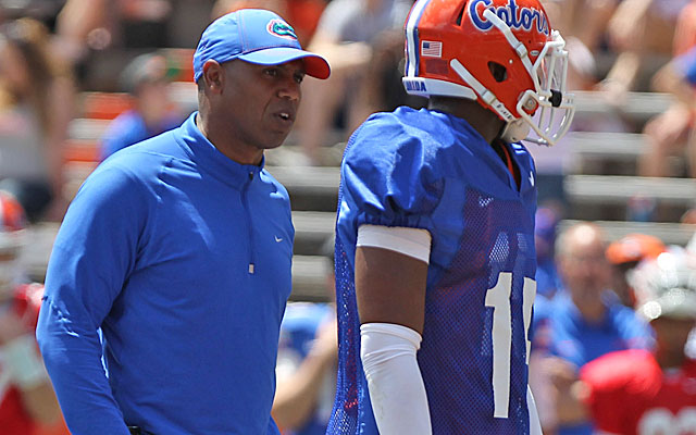 Th e addition of WR coach Joker Phillips should improve Florida's offense. (USATSI)