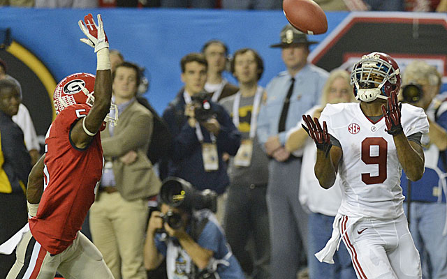 Amari Cooper had the catch of the season to finish off Georgia in the SEC title game. (USATSI)