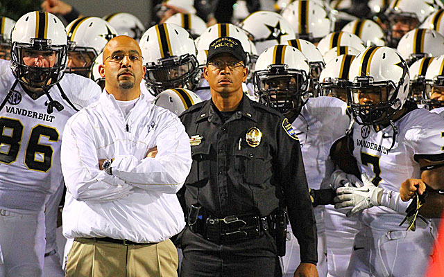 James Franklin is 15-11 in two seasons at Vanderbilt. (USATSI)