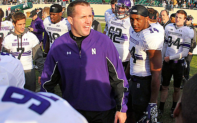 Northwestern's Pat Fitzgerald is the third-longest tenured coach in the Big Ten. (USATSI)