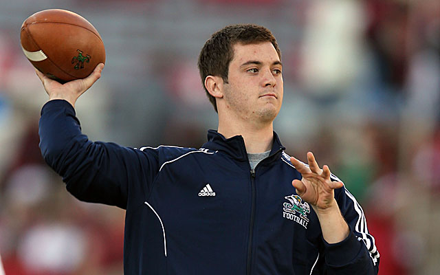 Tommy Rees helped the Irish win a couple games last year in relief. (USATSI)