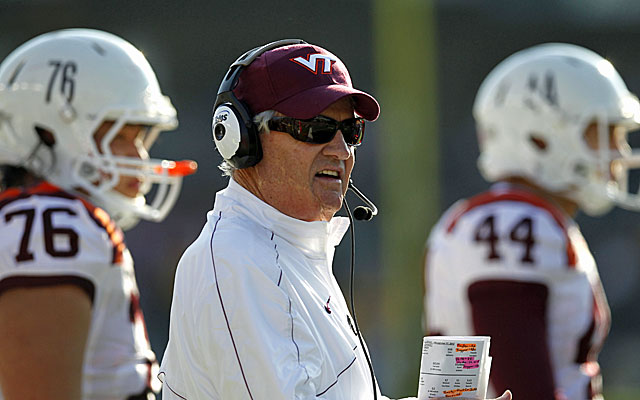Frank Beamer and Virginia Tech will play Alabama in this year's Chick-fil-A Kickoff Game in Atlanta. (USATSI)