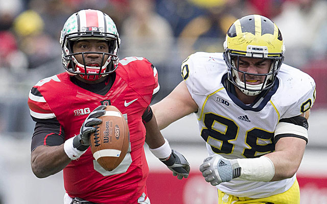 Ohio State's game with Michigan extends beyond the playing field. (USATSI)