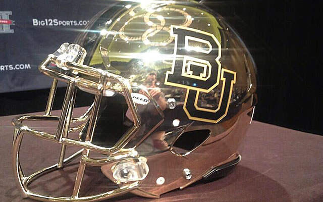 Baylor's new gold helmets are sure to draw attention. (USATSI)