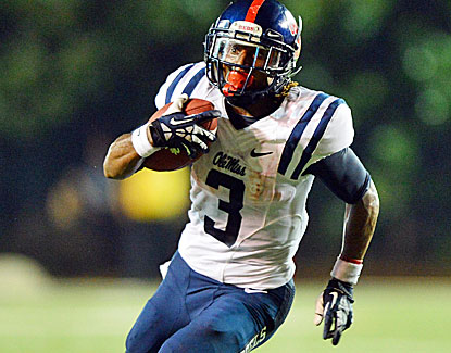 Ole Miss running back Jeff Scott runs for 138 yards, including the game-winning 75-yard score in the fourth quarter. (USATSI)