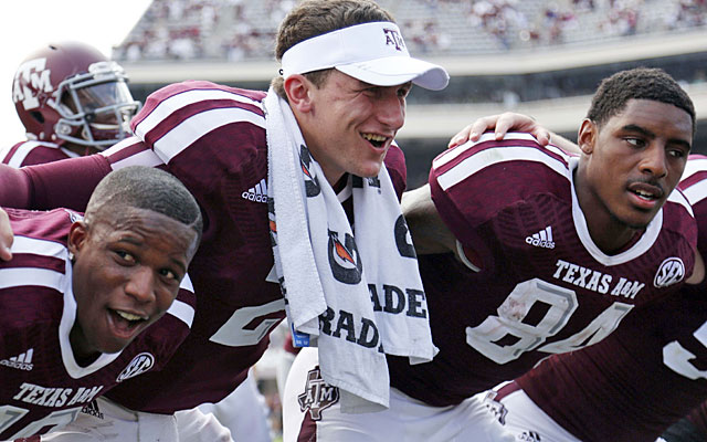 Manziel proves again that he is the most exciting -- and maybe most immature -- player in college football. (USATSI)