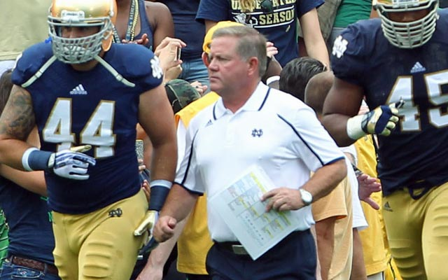 Notre Dame's Brian Kelly played club football as a collegian. (USATSI)