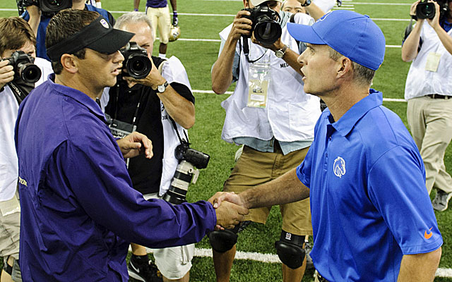 Steve Sarkisian got his Washington Huskies off on the right foot with a blowout win over Boise State. (USATSI)