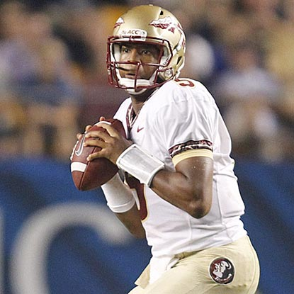 After one game, Florida State freshman Jameis Winston has a career NCAA passer efficiency rating of 252.24.  (USATSI)