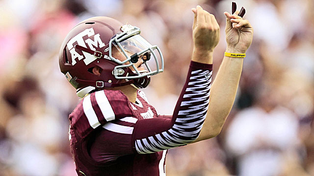 How long does it take before Johnny Football does this on Saturday? (USATSI)