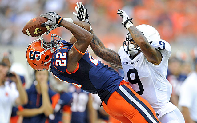 Adrian Fleming is sidelined again after recording the first two catches of his Syracuse career. (USATSI)