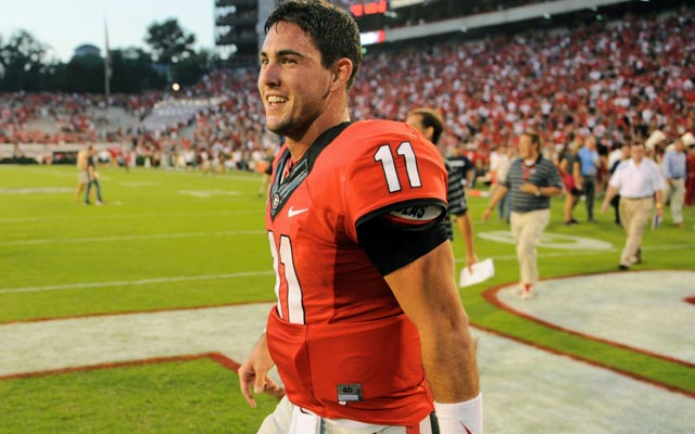 Aaron Murray's draft stock should rise after his performance against South Carolina. (USATSI)
