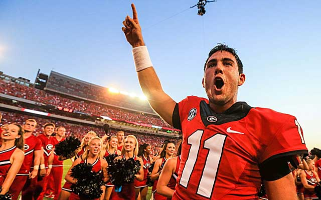Aaron Murray is fired up after taking care of business against South Carolina. (USATSI)