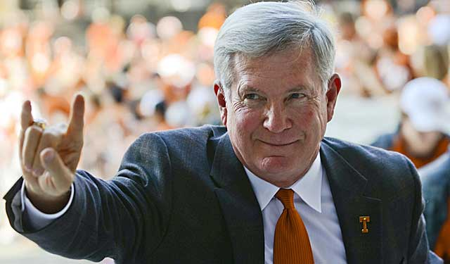 Has Mack Brown lost his effectiveness as the face of the Longhorns? (USATSI)