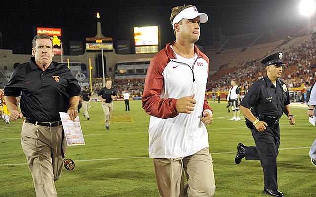 As far as USC fans are concerned, Lane Kiffin can keep on running right out of LA and never come back.