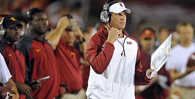 Lane Kiffin was not helped by a loss to Washington State, nor his QB play. (USATSI)