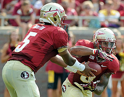 FSU's Devonta Freeman runs for 109 yards and a score as the Noles roll to a 62-7 win over Nevada. (USATSI)