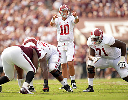 AJ McCarron tosses four touchdown passes as No. 1 Alabama gets revenge on Texas A&M. (USATSI)