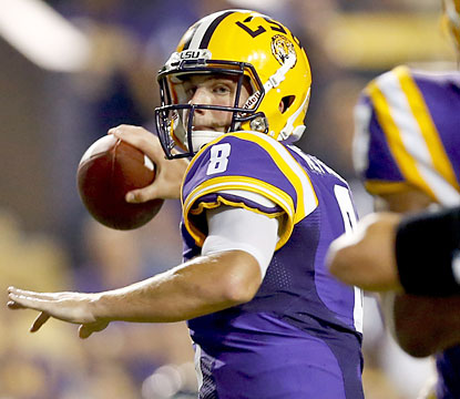 LSU senior quarterback Zach Mettenberger throws for 264 yards for three touchdowns and no interceptions. (USATSI)
