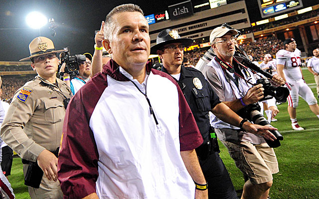 Todd Graham and the Sun Devils escape with a controversial win over Wisconsin. (USATSI)