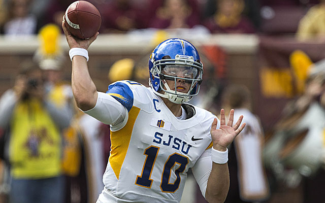 David Fales of San Jose State showed flashes of NFL skill against Minnesota. (USATSI)