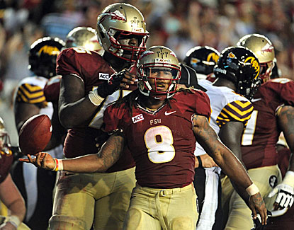 Florida State's Devonta Freeman puts up 112 yards and a score in the Noles' blowout win over Bethune-Cookman. (USATSI)