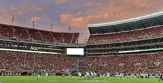 It costs a lot to park at Bryant-Denny Stadium, let alone pay to get in. (USATSI)