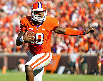 Tajh Boyd throws for three scores and runs for another to joins Philip Rivers in the ACC's 100-TD club. (USATSI)
