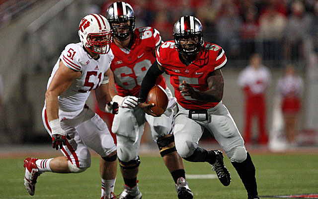 Braxton Miller sets a career high with four TD passes against Wisconsin. (USATSI)