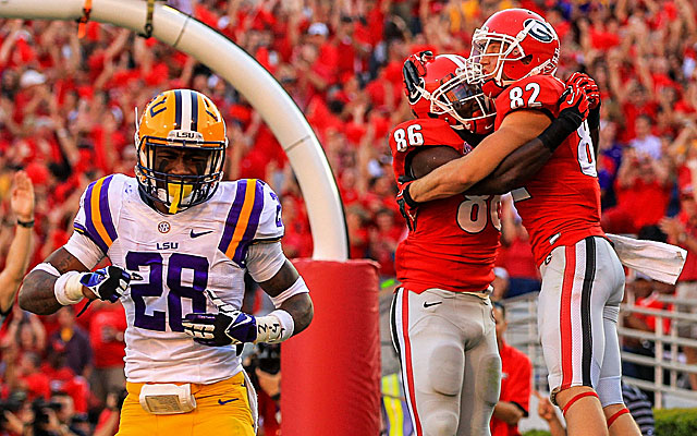 Despite Saturday's loss to Georgia, LSU is still very much in the mix in the SEC. (USATSI)