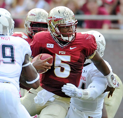 Jameis Winston riddles Maryland with five touchdown passes in Florida State's biggest rout of a ranked opponent.  (USATSI)