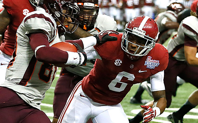 Ha Ha Clinton-Dix has been suspended at Alabama while the school sorts out a possible NCAA violation. (Getty Images)