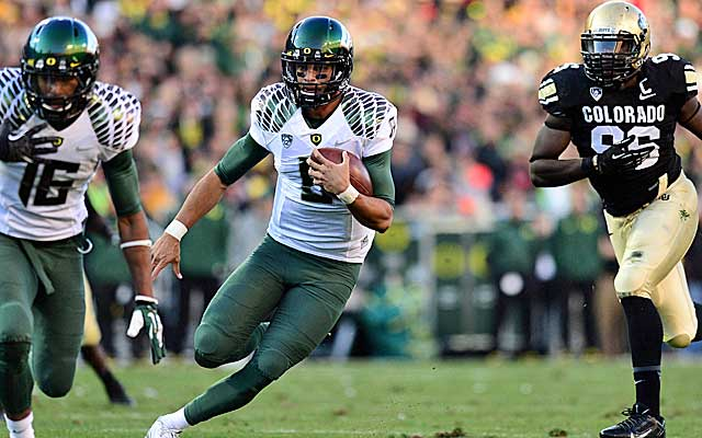 Oregon, so far, looks like the favorite to face an SEC team for the BCS title. (USATSI)