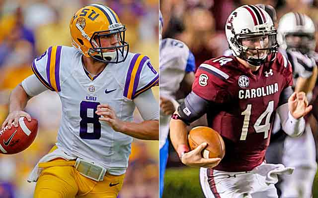 Zach Mettenberger (8) and Connor Shaw are having what once were Heisman-candidacy seasons. (USATSI)
