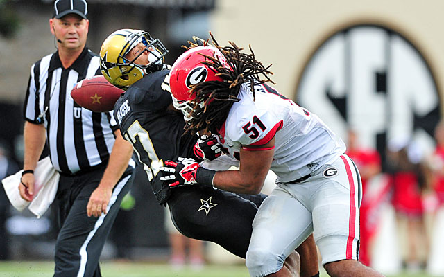 Georgia's Ramik Wilson was able to stay in the game after a replay review overturned his ejection. (USATSI)