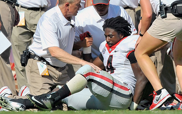 Running back Keith Marshall is one of three Georgia players out for the season with a torn ACL. (USATSI)