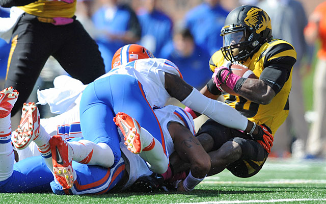 Felled by a season-ending knee injury in 2011, Mizzou RB Henry Josey bounced back from a scare Saturday. (USATSI)