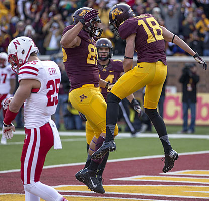 Minnesota's sixth win -- and first over Nebraska since 1960 -- means the Gophers are eligible to play in a bowl.  (USATSI)