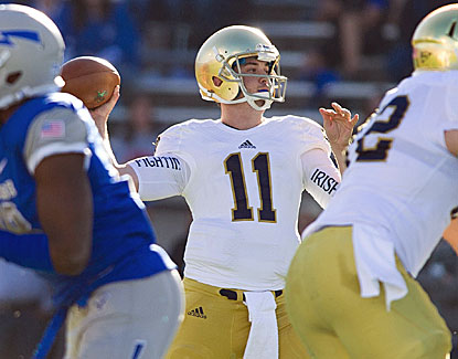 Tommy Rees set a career high with five touchdown passes in Notre Dame's 45-10 rout of Air Force. (USATSI)