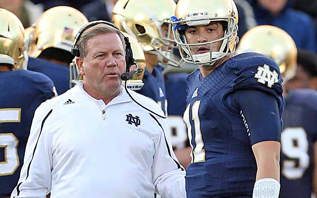 Notre Dame keeps finding ways to win, and could just wind up back a BCS bowl.(USATSI)